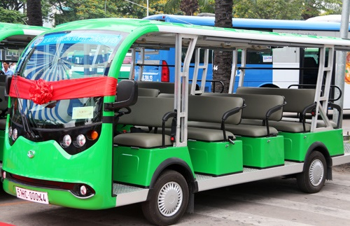 Xe bus chạy bằng nhiên liệu sạch tại TP HCM / Nguồn: vnexpress.net