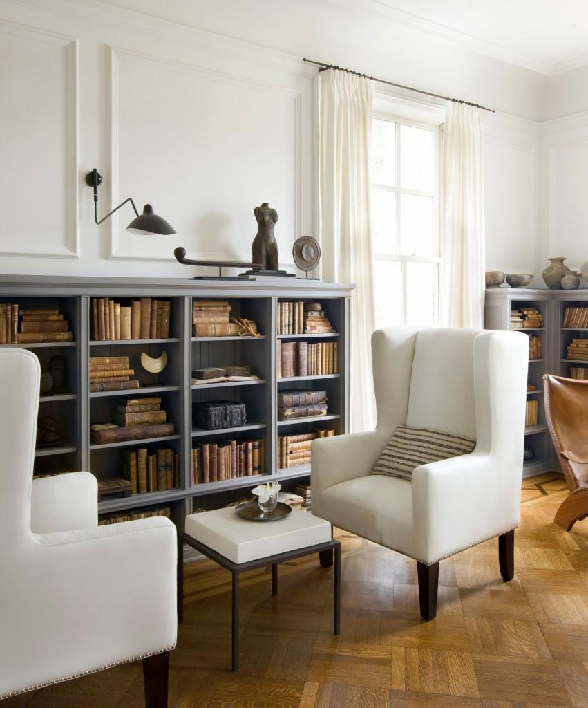 Phong cách cổ điển đồng nhất cho toàn bộ giá sách mang đến vẻ đẹp cổ điển, vô cùng cuốn hút