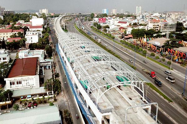 Tuyến metro số 1 lùi thời gian khai thác đến quý IV/2021 (Ảnh: Báo Thanh niên)