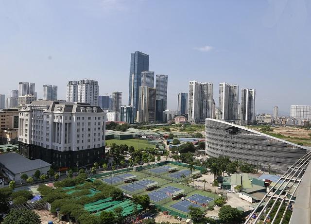 Một khu nhà cao tầng tại quận Nam Từ Liêm. Ảnh: Thanh Hải