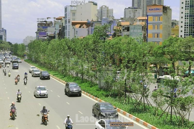 Diện tích cây xanh của Thủ đô tiếp tục được mở rộng. (Ảnh Mạnh Quân)