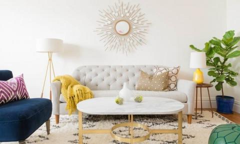 12 ý tưởng trang trí phòng khách nhỏ phong cách tối giản