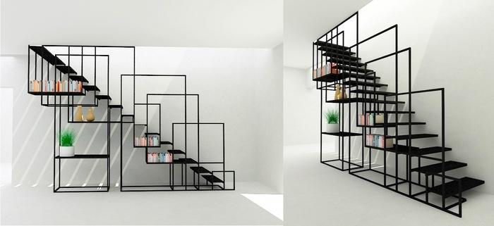 Hãy tận dụng bậc cầu thang làm nơi cất trữ đồ đạc theo ý bạn muốn