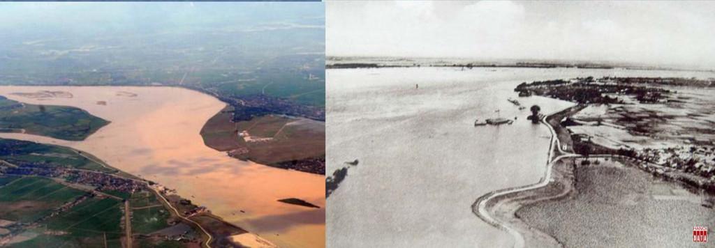 Sông Hồng và đoạn chảy qua Hà nội mùa nước lớn năm 1926