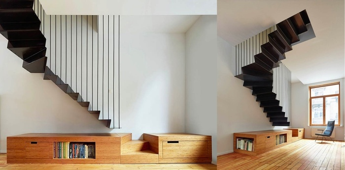 Nếu bạn lo ngại về độ an toàn của các bậc cầu thang thì mẫu cầu thang này chính là sự lựa chọn hoàn hảo dành cho bạn