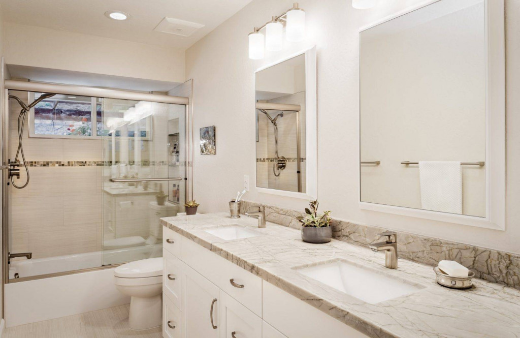 Gạch giả đá có thể được sử dụng ở cả phòng tắm, phòng ngủ, phòng khách...