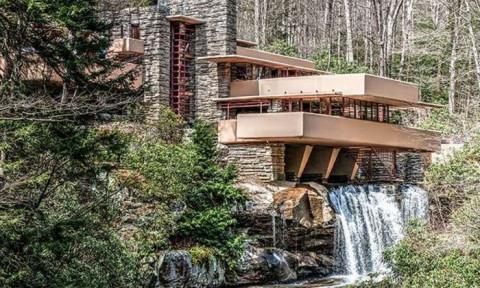Mê mẩn biệt thự trên thác nước đẹp vượt thời gian