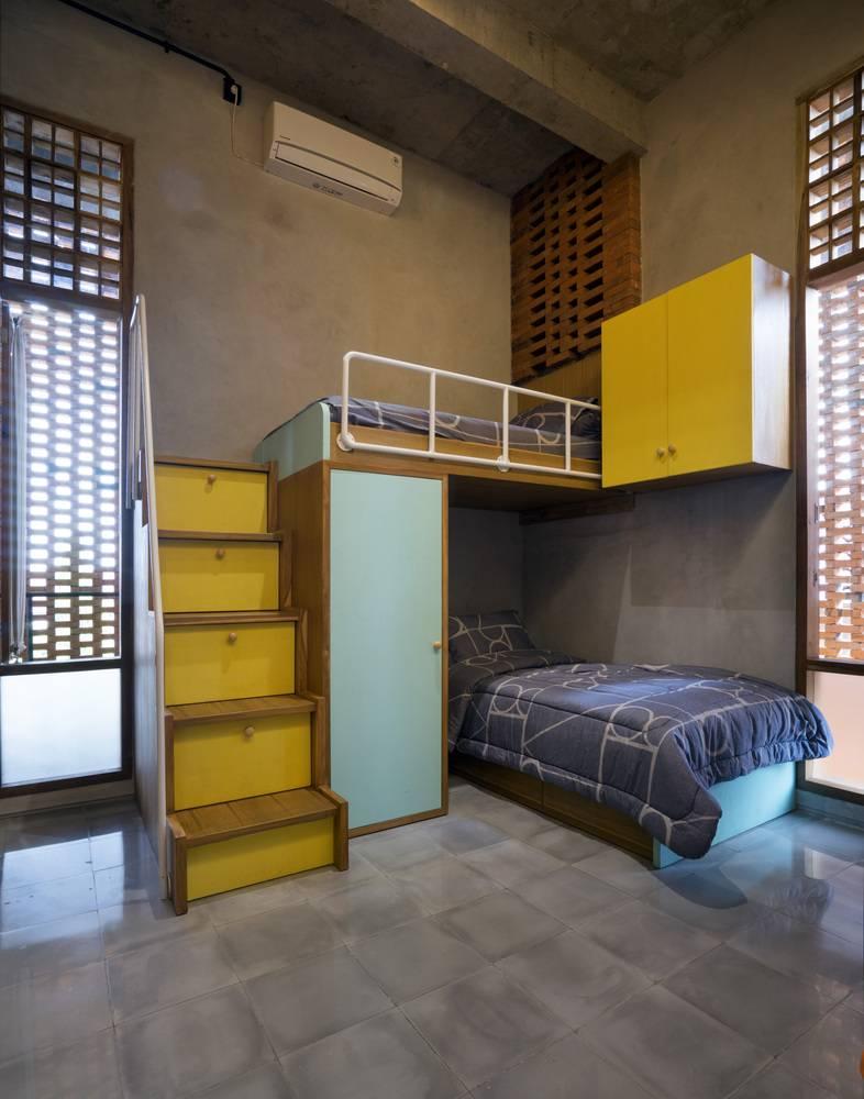 Căn phòng trẻ em được thiết kế tối giản, hiện đại