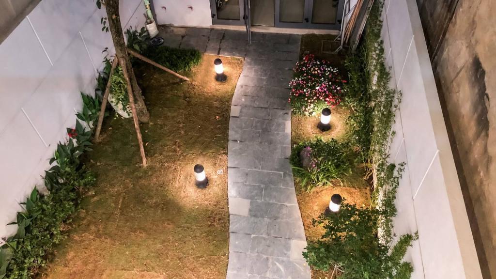 Khu vườn nối khi nhìn từ trên cao