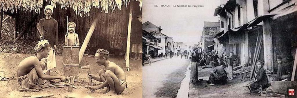 Sau khi tham gia xây dựng cầu Long Biên, những người thợ rèn Hòe Thị (Hà Tây) đã ra  phố  làm ăn, tạo nên phố Lò Rèn ở Hà Nội