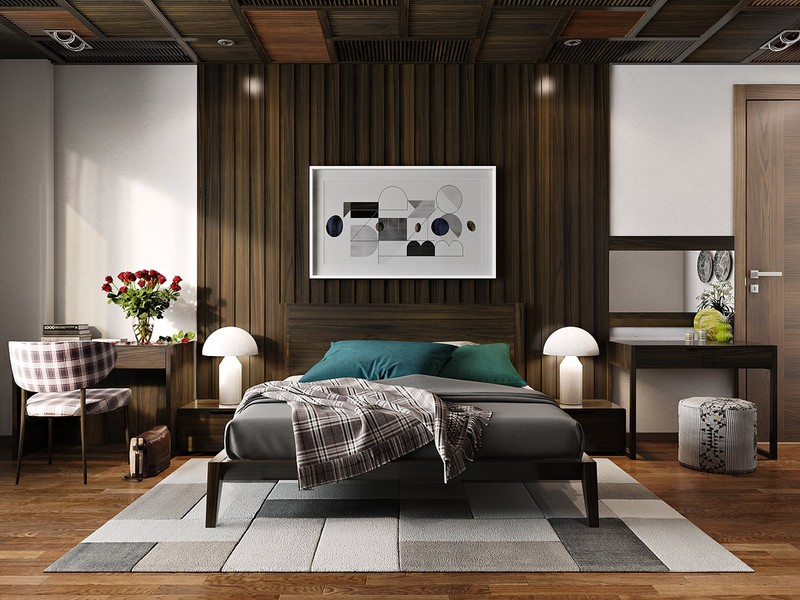 Bức tường đầu giường luôn là một ứng cử viên tuyệt vời cho sự đổi mới