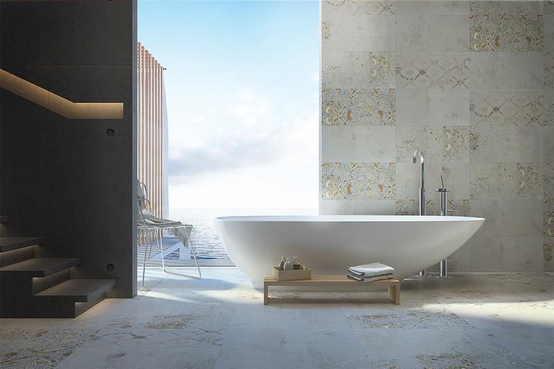 Sự phi đối xứng trong hình dạng của bồn tắm làm chúng ta liên tưởng đến hình ảnh một cánh buồn no gió đang hướng ra khơi.