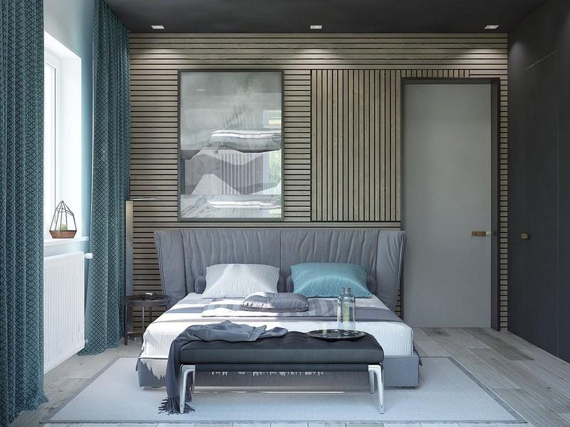 Nhiều người sợ chọn tông màu gỗ trong một căn phòng có chủ đề về biển nhưng phòng ngủ này cho thấy tỷ lệ màu sắc phù hợp có thể thay đổi hiệu ứng của bất kỳ căn phòng nào