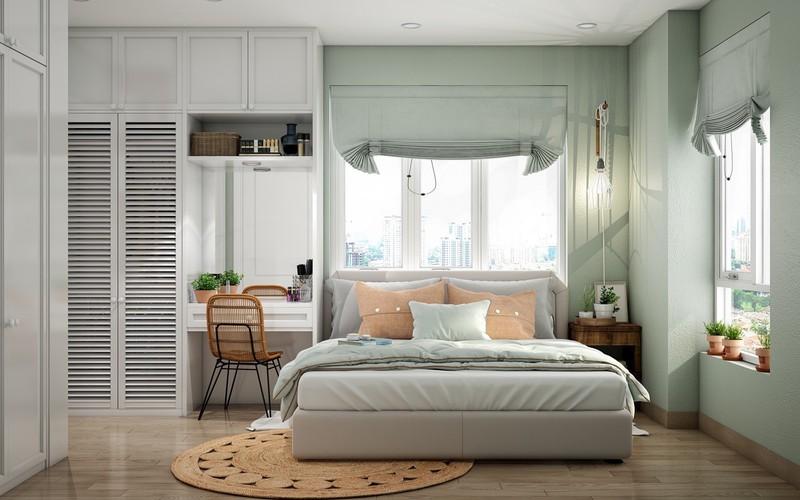 Mang lại không khí xanh mát cho phòng ngủ trên tầng cao
