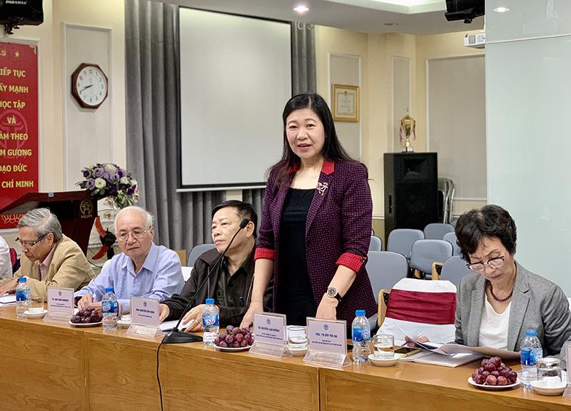 Chủ tịch Ủy ban MTTQ Việt Nam TP Nguyễn Lan Hương phát biểu tại buổi giám sát