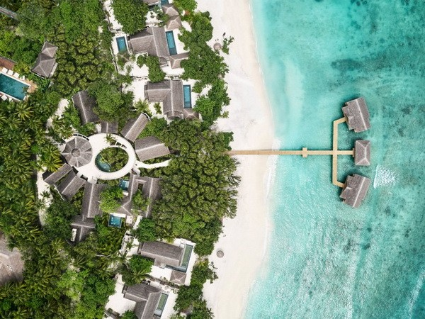 Một góc khu resort nhìn từ trên cao