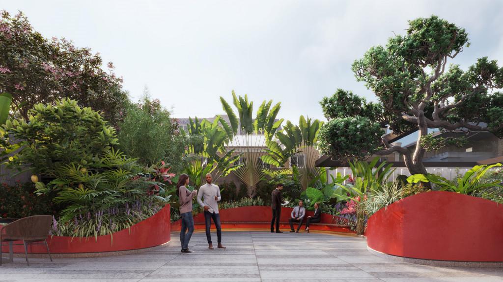 """Những phân khu chỗ ngồi ẩn mình trong """"Vườn Việt"""" của cao ốc văn phòng LIM TOWER 3"""
