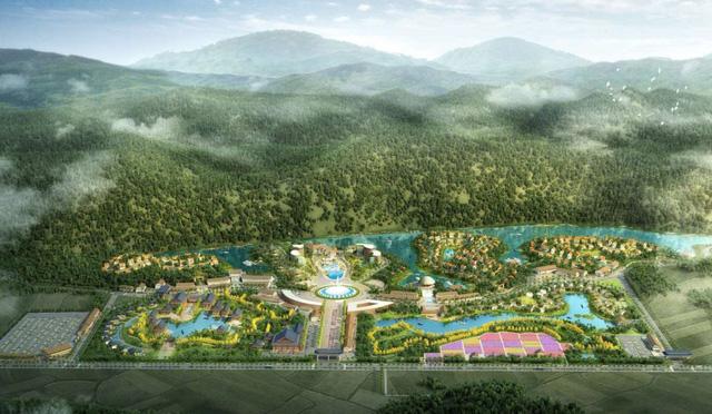 Phối cảnh dự án khu du lịch sinh thái - tâm linh tại huyện Lạc Thủy. Ảnh: TL