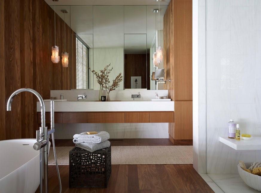 Hãy lựa chọn những gam màu sáng cho căn phòng tắm gia đình