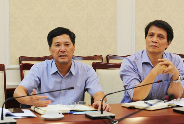 Hiệu trưởng Học viện AMC, Trần Hữu Hà báo cáo kết quả thực hiện Đề án 1961