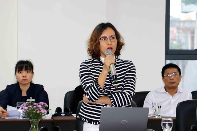 Quản đốc Dự án Hoàng Thị Kim Cúc giới thiệu về Dự án