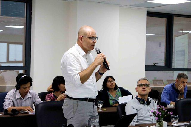 Chuyên gia của tổ chức GIZ tham gia ý kiến tại Hội thảo