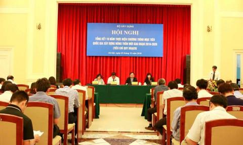 Bộ Xây dựng tổ chức Hội nghị tổng kết 10 năm thực hiện Chương trình mục tiêu quốc gia xây dựng nông thôn mới giai đoạn 2010-2020 (tiêu chí quy hoạch)