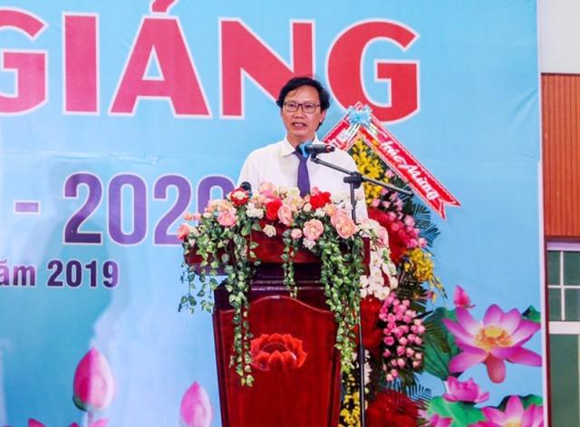 Thứ trưởng Nguyễn Đình Toàn phát biểu tại Lễ khai giảng năm học 2019 - 2020 của trường MTU