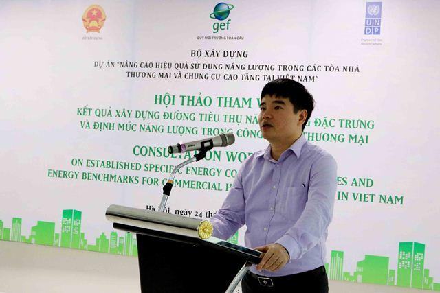 Phó Giám đốc Dự án EECB Nguyễn Công Thịnh phát biểu khai mạc Hội thảo