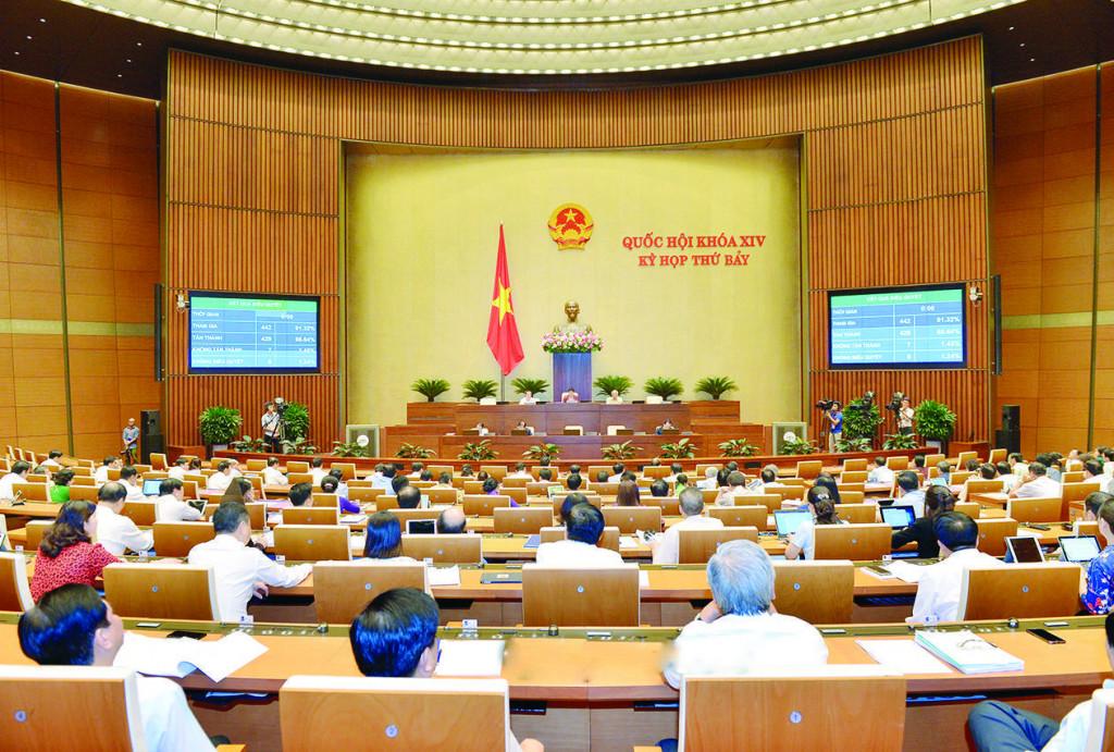 Quốc hội Nước CHXHCN Việt Nam bấm nút thông qua Luật Kiến trúc với tỷ lệ số phiếu cao