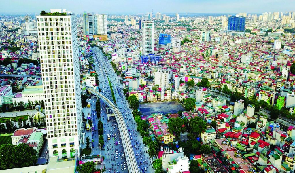Các công trình cao tầng xen kẽ trong khu vực nội đô lịch sử Hà Nội