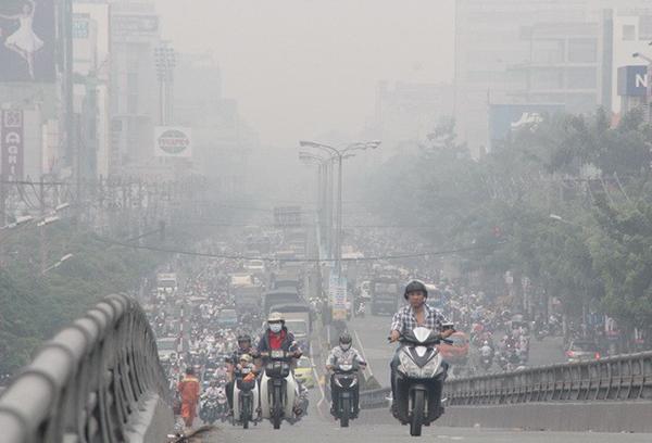 Ô nhiễm không khí trên địa bàn Hà Nội đang xảy ra khá phổ biến. Ảnh: CTV