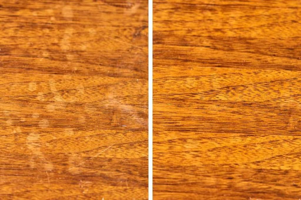 Nhiệt luôn được xem là cách loại bỏ vết bẩn trên chất liệu gỗ hiệu quả nhất