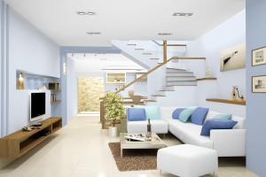 Những nguyên tắc dùng màu sơn tường nới rộng không gian