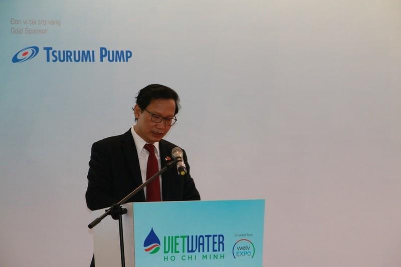 Ông Nguyễn Đình Toàn - Thứ trưởng Bộ Xây dựng Việt Nam phát biểu tại buổi lễ