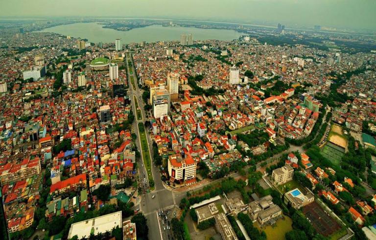 Một góc Hà Nội chụp trên cao (ảnh: KTS Nguyễn Phú Đức)