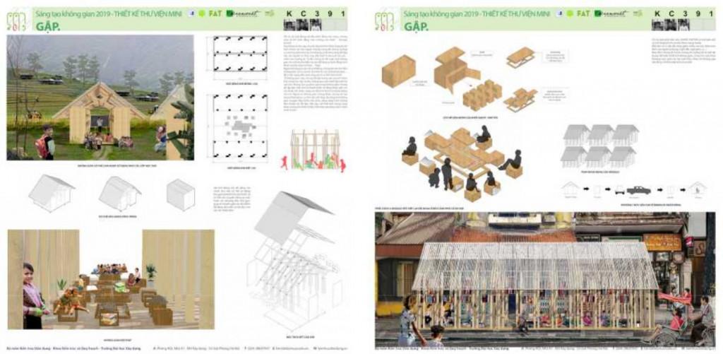 """Phương án GẬP – giải Ba cuộc thi """"Thiết kế Thư viện Mini 2019: Linh hoạt – Thân thiện – Di động"""""""