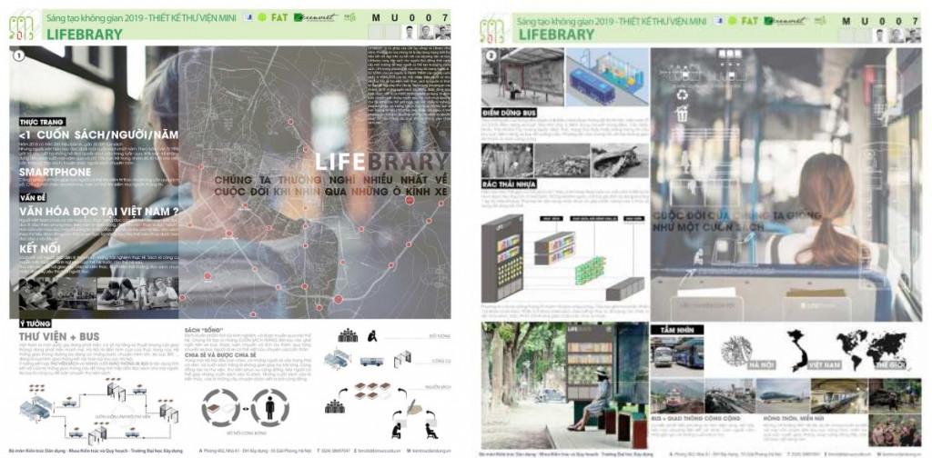 """Giải Khuyến khích cuộc thi """"Thiết kế Thư viện Mini 2019: Linh hoạt – Thân thiện – Di động"""""""