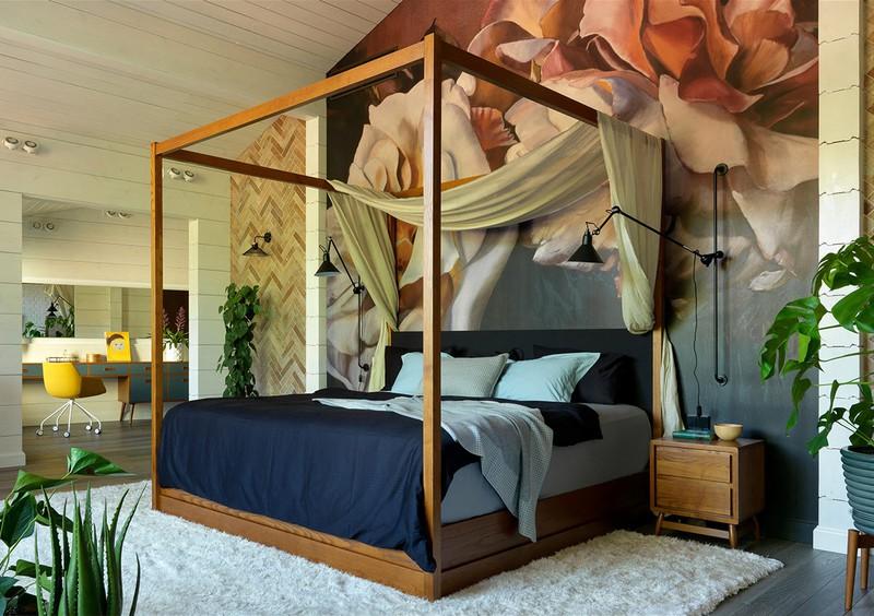 Bức tranh nghệ thuật đầu giường góp phần thể hiện tính cách của người sở hữu
