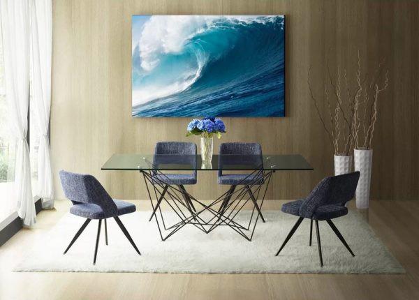 Chiếc bàn ăn sáng tạo thể hiện gu thẩm mỹ tinh tế của người sở hữu