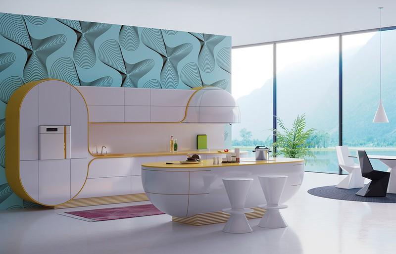 Lấy ý tưởng từ hình dáng một con thuyền, chiếc đảo bếp hòa hợp với nội thất phòng bếp thông minh mà chủ nhà đã định hướng ban đầu.