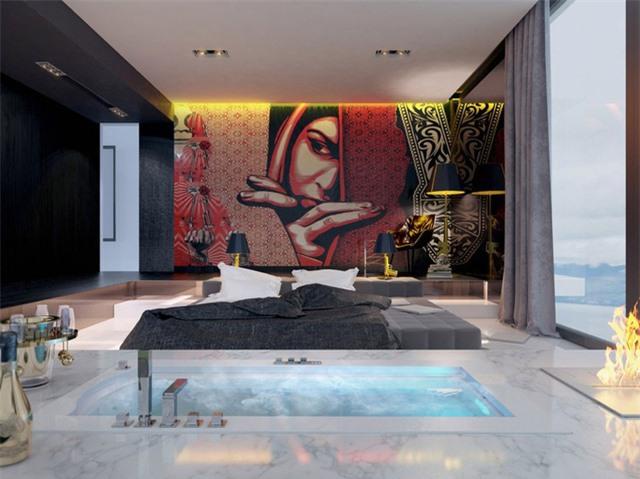 Sử dụng màu đỏ trong tranh treo tường là cách hiệu quả để mang đến nguồn năng lượng tích cực.