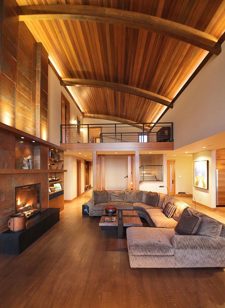 Đa phần các gia đình đều lựa chọn thiết kế thông tầng để sở hữu một căn phòng khách có trần cao
