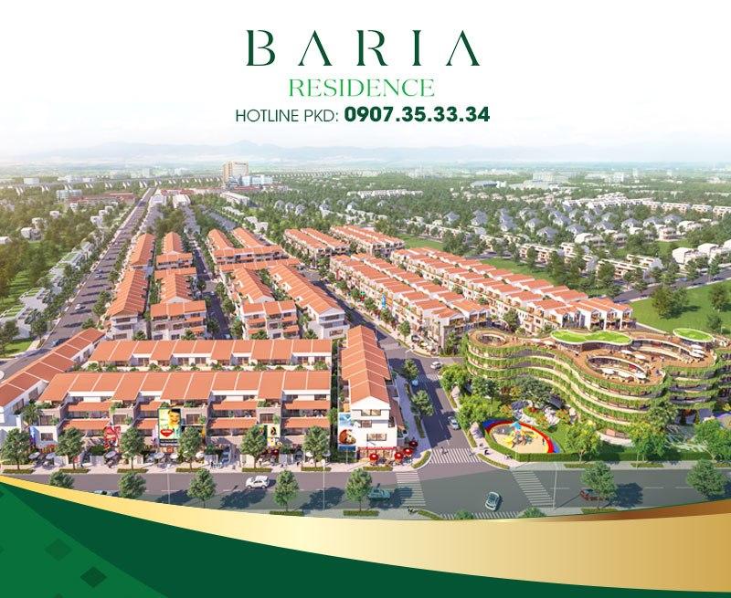 Tại Baria Residence, cư dân được đắm mình trong không gian thiên nhiên thơ mộng giữa nhịp sống hiện đại của đô thị phồn hoa