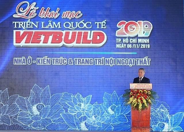 Thứ trưởng Bùi Phạm Khánh khẳng định: Triển lãm Vietbuild là một trong những sự kiện quan trọng của ngành Xây dựng