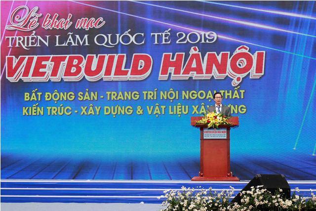 Thứ trưởng Nguyễn Đình Toàn phát biểu khai mạc Triển lãm