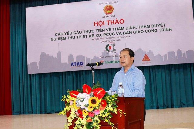 Cục trưởng Hoàng Quang Nhu phát biểu tại hội thảo