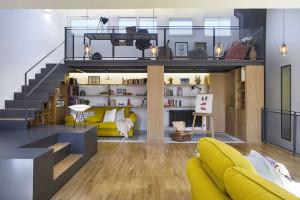Thiết kế căn hộ ở tầng gác mái cực hay ho