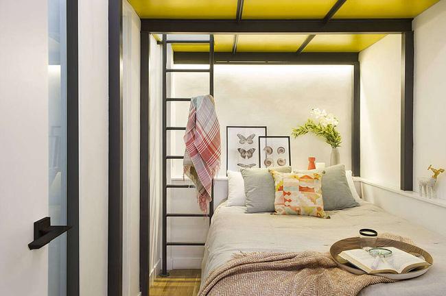 Không gian phòng ngủ nhỏ xinh dành cho 2 người