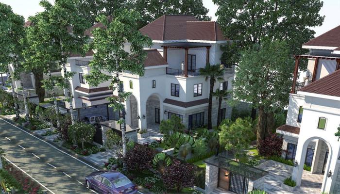 Biệt thự Emerald Villas mang đến không gian sống chuẩn mực của một hệ sinh thái trong lành
